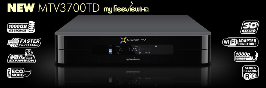 Magic TV™ MTV3700TD High Definition Digital Television Recorder with Dual tuners and a 1000GB Hard Disk Drive